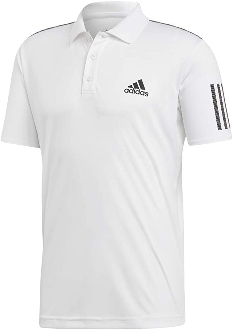 adidas Men's 3-Stripes Club Polo Shirt : Clothing