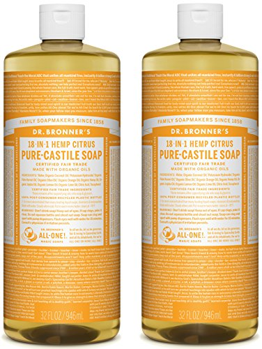 Dr. Bronner's Pure-Castile Liquid Soap Value Pack - Citrus 32oz. (2 Pack)