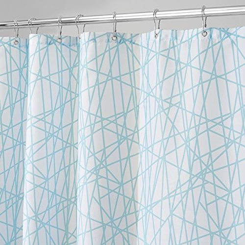 mDesign Abstract Fabric Shower Curtain