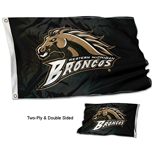 - College Flags and Banners Co. Western Michigan Broncos Double Sided Flag