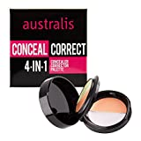 Australis 4-in-1 Concealer and Corrector Eye Face Palette Portable Mini Flip Case with Mirror