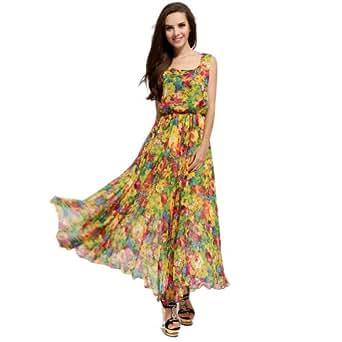 Amazon.com: Maxi Dress Sexy Summer Printed Sleeveless O
