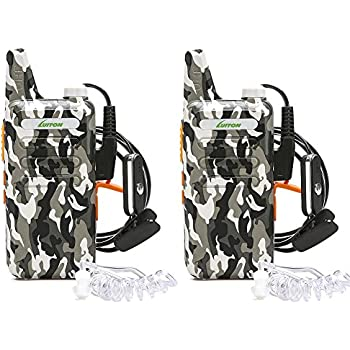 Mini Walkie Talkies for Kids with Earpiece Rechargeable 3 Watt for Camping Hiking Playing Outdoor Game by Luiton (2 Packs)
