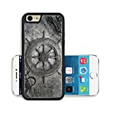 Liili Premium Apple iPhone 6 iPhone 6S Aluminum Backplate Bumper Snap Case Image ID 21580327 Vintage navigation background illustration with steering wheel charts anchor chains