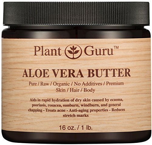 Aloe Vera Body Butter 16 oz. 100% Pure Raw Fresh Natural Cold Pressed. Skin, Hair, Nail Moisturizer, DIY Creams, Balms, Lotions, Soaps.