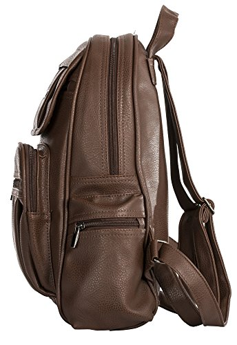 Medium Rucksack Shop Shoulder Leather 2 Backpack Design Size Bag Beige Vegan Unisex Handbag Light Big TzYpBB