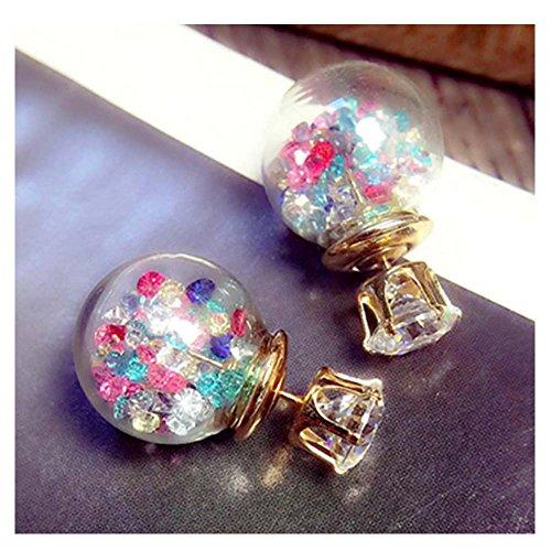 Darkey Wang Woman Fashion Jewelry Glass-sided Diamond Quicksand Zircon Crystal Ball - Jewelry Side Store West Upper