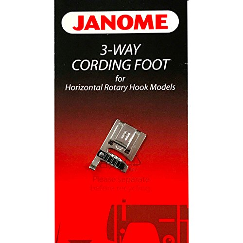 Janome 3-Way Cording Foot for #200345006 Horizontal Rotary Hook Models
