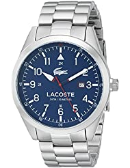 Lacoste Mens 2010783 Montreal Analog Display Japanese Quartz Silver Watch
