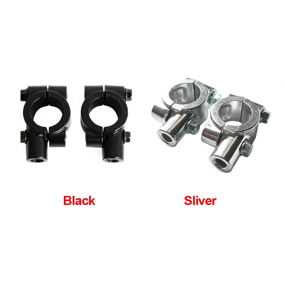 Silber 2 St/ück Universal Aluminium Legierung Motorrad Lenker Riser Lenker Mount Lenker Montage Adapter passend f/ür 20 mm 24 mm Lenker
