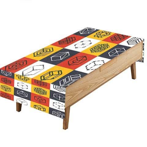 PINAFORE 室内/屋外 こぼれ防止 テーブルクロス 背景 フォックスアート プリント ビュッフェテーブル パーティー ウェディング その他50 x L80 インチ W70