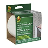 "Duck 442063 Self-Adhesive Fiberglass Carpet Seaming Tape, 2.44""x 15', Single Roll"