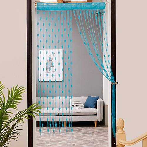 1 Panel Geometric Figure Printing Transparent Sheer Curtains Triangle Pattern Living Room Sheer Tulle Curtains Rod Pocket Process for Children Kids Room