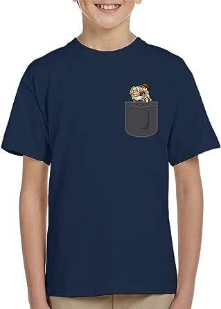 Cloud City 7 Ryu Pocket Print Street Fighter Kid's T-Shirt