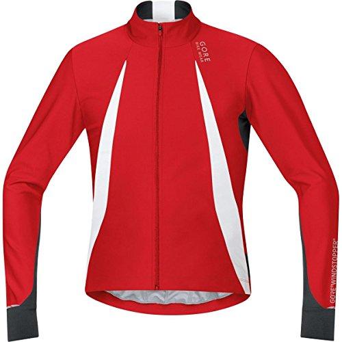 (Gore Bike WEAR, Men´s, Cyclist Jersey, Long Sleeves, Warm, Gore Windstopper, Oxygen, Size S, Red/Black, SWOXLM)
