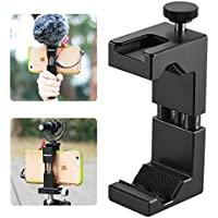 Metal Phone Tripod Mount with Hot Shoe Mount-Ulanzi IRON MAN 2 Pro Smartphone Holder Video Rig Tripod Mount Adapter (IRON MAN II)