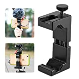 Ulanzi ll065 Metal Phone Tripod Mount with Hot Shoe Mount Iron Man 2 Pro Smartphone Holder Video Rig Tripod Mount Adapter