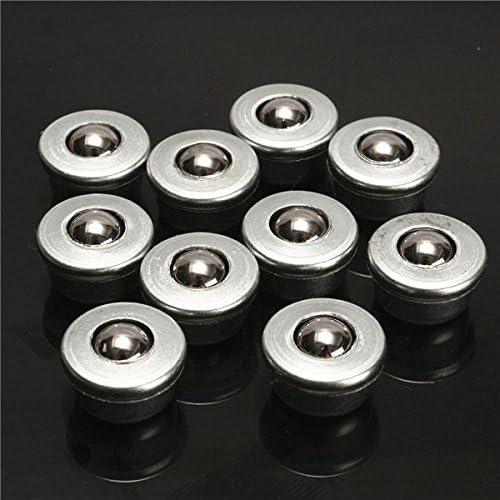 Hitommy 10pcs 8mm Diameter Ball Metal Transfer Bearing Unit Conveyor Roller CY-8H Ball Bearing