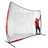 PowerNet Sports Barrier Net 12 ft x 9 ft | 108 SqFt of Protection | Safety Backstop w/Bow Style Frame | Portable EZ Setup Barricade for Baseball, Lacrosse, Basketball, Soccer, Field Hockey, Softball