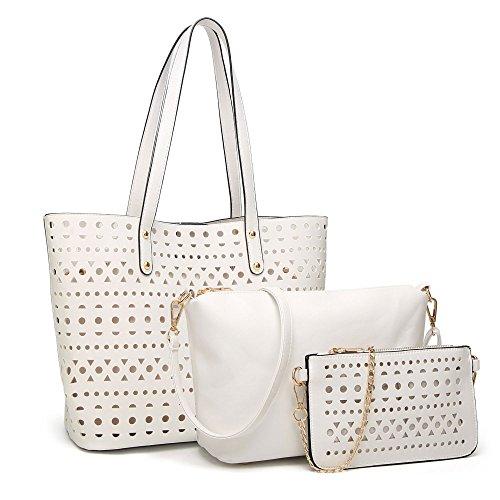 Diagonal Shoulder Bag Bag Woman Wild White Cut Fashion 8Pqwp6X