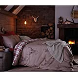 Catherine Lansfield Stag Cotton Rich Double Quilt Set, Multi