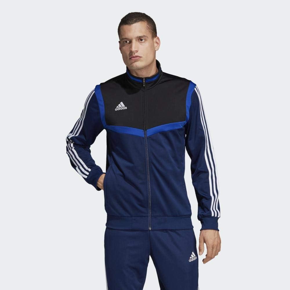 Hombre adidas Tiro 19 Polyester Jacke Chaqueta Deportiva L Black//White