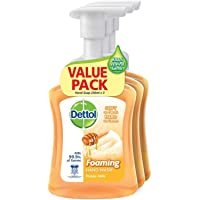 Dettol Antibacterial Foaming Hand Wash Value Pack, Honey Milk, 250ml (Pack of 3)