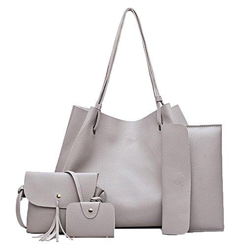 Handbag for Women Hurrybuy Tote Bag Shoulder Bags Card Satchel 4pcs