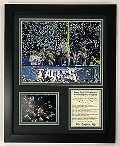 """Legends Never Die NFL Philadelphia Eagles Super Bowl 52 Champions Framed Photo Collage, Team Color, 12 x 15"""""""