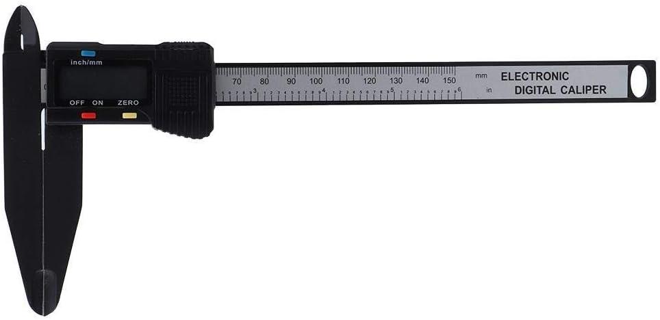 300 mm Electr/ónico Digital Caliper carbono Regla con mand/íbula larga herramienta de medici/ón Niady 150 mm 150 mm Calibre electr/ónico
