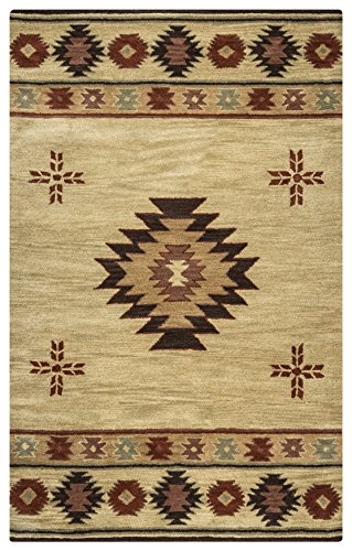 Rizzy Home Southwest Collection SU2007 Handtufted 100% Wool Area Rug 10' x 14' Khaki