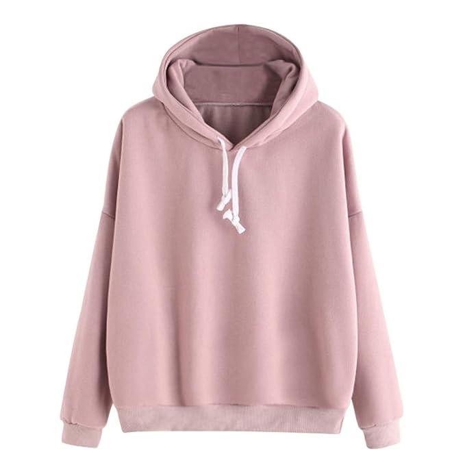 promo code ecb2e 4acfc Sweatshirt damen Kolylong® Frauen Elegant Rosa Sweatshirt ...