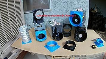 Antminer A3 D3 E3 S1 S3 S5 S7 S9 V9 T9 L3+ x3 Z9 120mm Fan Duct Cooling  Shroud to 4 inch Vent Hose (10)