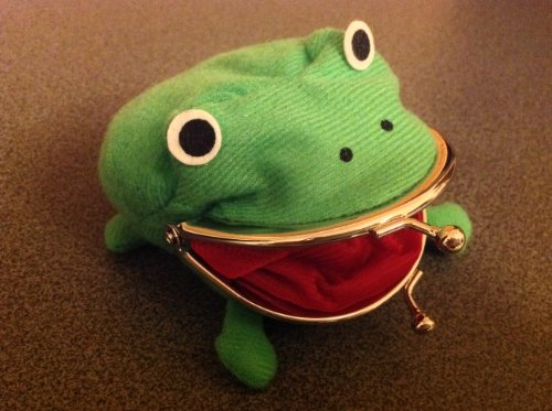 Naruto Cute Green Frog Coin Bag Wallet Purse Cosplay Anime Plush Toy Funny