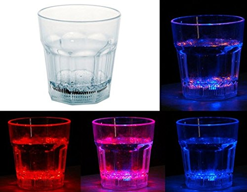 10oz Sensor LED Colorful Light Drink Cup (Transparent) (Cookie Bouquet Australia)