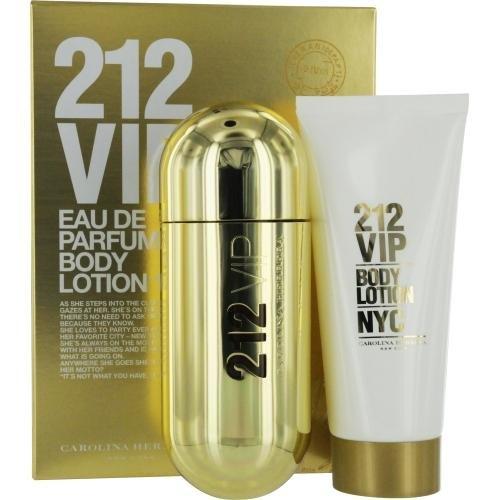 (Carolina Herrera 2 Piece Fragrance Set for Women, 212 VIP)
