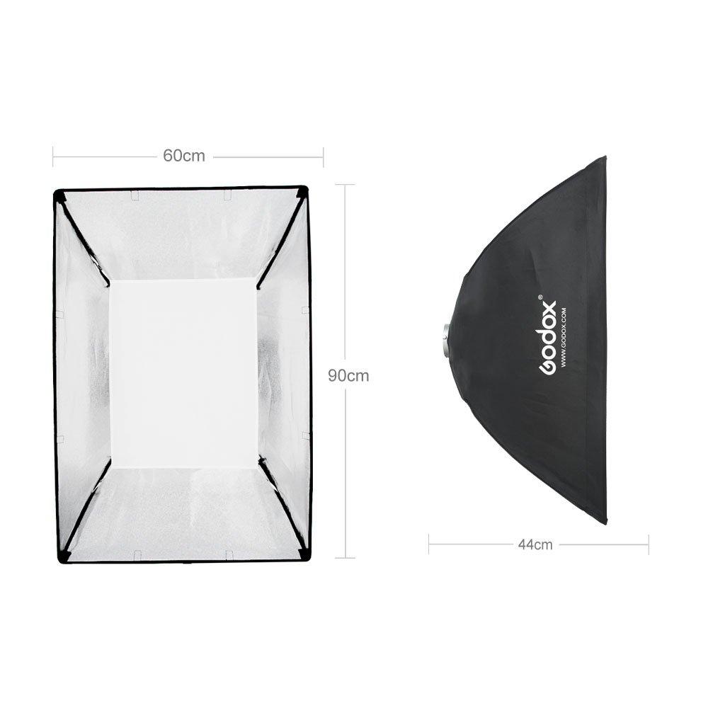 Godox 24''x 35'' 60 x 90cm Honeycomb Grid Softbox Soft Box with Bowens Mount Compatible Studio Strobe Flash Light by Godox (Image #3)