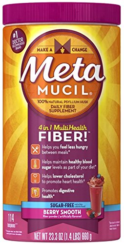 Metamucil Smooth Texture Berry Burst Sugar-Free 114 Each (Pack of 5) by Metamucil