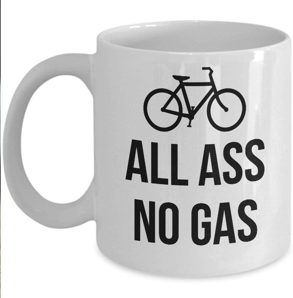 Taza de regalo Bike Lover - Taza de café y taza de té sin gas - Taza de cerámica de 11 oz - Gran idea de regalo única para ciclistas Padres, madres, hermanos, amigos, él o ella