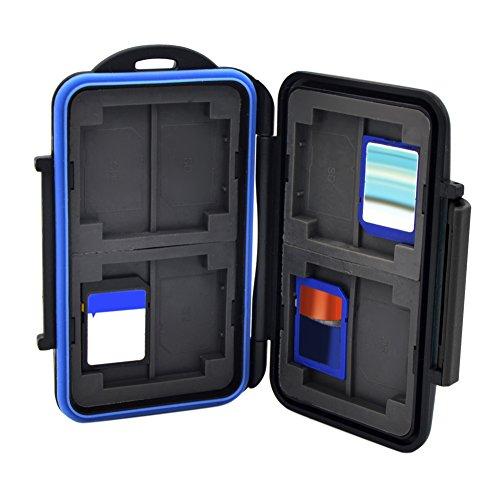 broadroot Wasserdicht Anti-Shock-Memory Card Case Halter Tasche für 8Karten Schwarz 6MxqB6UWG9
