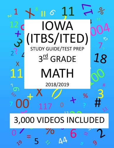 3rd Grade  IOWA ITBS ITED, 2019  MATH, Test Prep:: 3rd Grade IOWA TEST of BASIC SKILLS, EDUCATIONAL DEVELOPMENT  2019 MATH Test Prep/Study Guide
