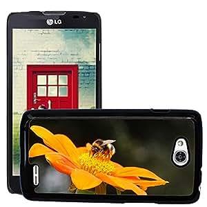 Super Stella Slim PC Hard Case Cover Skin Armor Shell Protection // M00149919 Hummel Flower Insect Close Orange // LG Optimus L90 D415