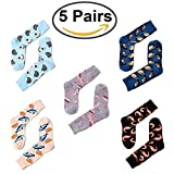Fashion Mens Novelty Seafood Pattern Funny Hip Hop Soft Cotton Skateboard Socks