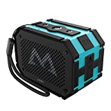 Mpow Portable Bluetooth Speaker, Extra 1000mAh Emergency Power Supply, Richer Bass, 10-Hour Playtime, Water Resistant IPX65 Wireless Speaker(Blue)