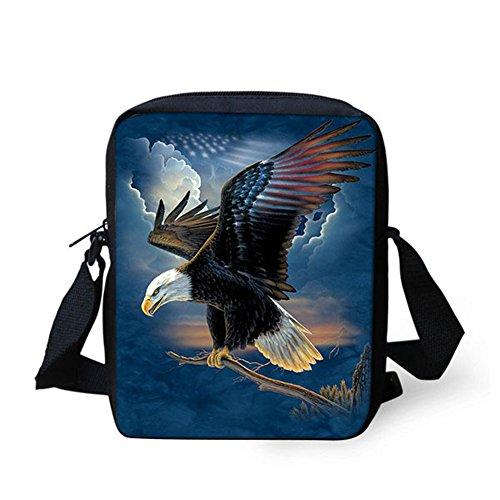 Handbag Messenger IDEA Cellphone Bag Shoulder Bald Head Strap Wolf Pouch Printed Small Eagle Adjustable Satchel HUGS dgxwPXqg