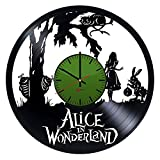 Alice in Wonderland Handmade Vinyl Record Wall Clock – Get unique kids room wall decor – Gift ideas for kids and teens – Fantasy Adventure Unique Modern Art For Sale