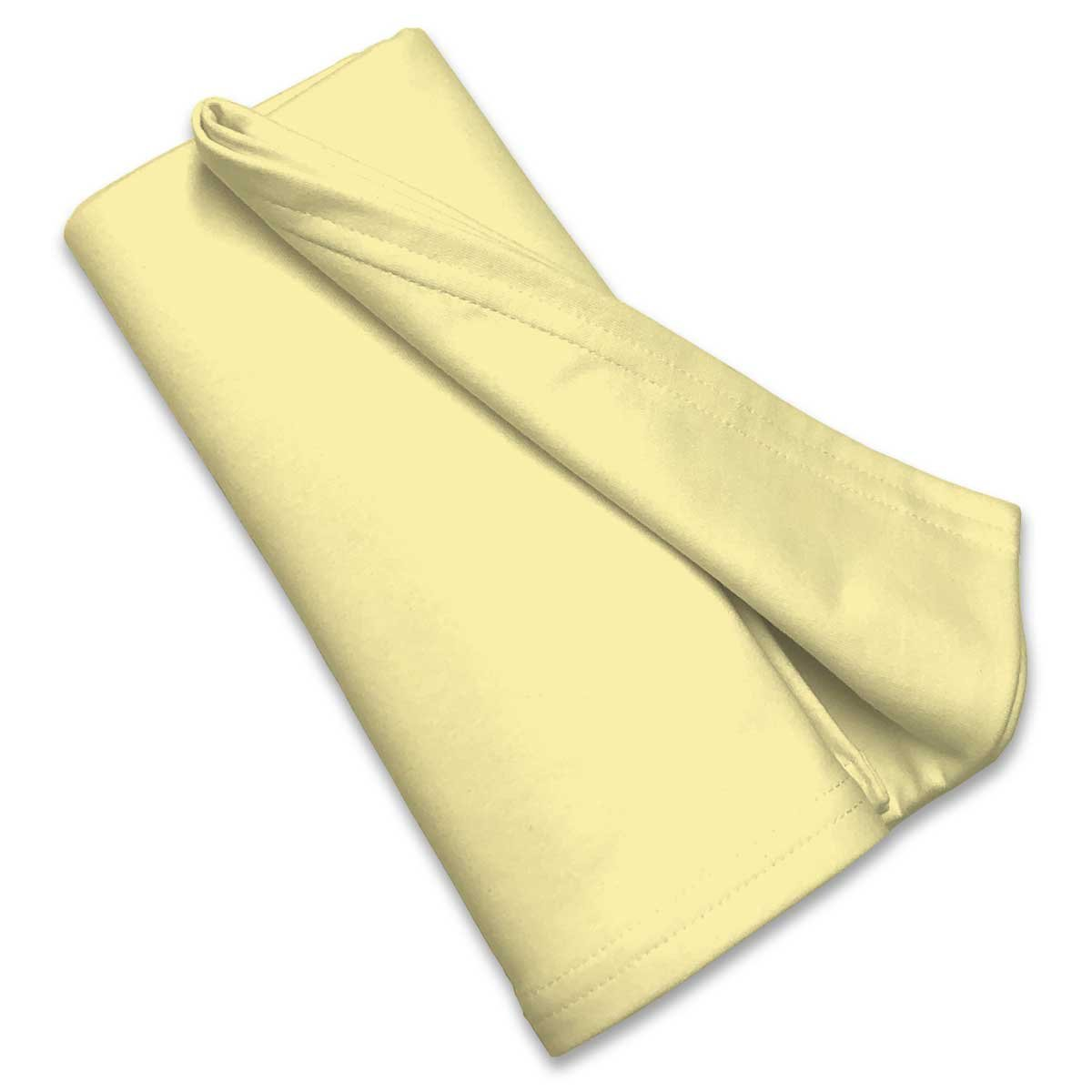 SheetWorld Soft & Stretchy Swaddle Blanket - Pale Yellow - Made In USA