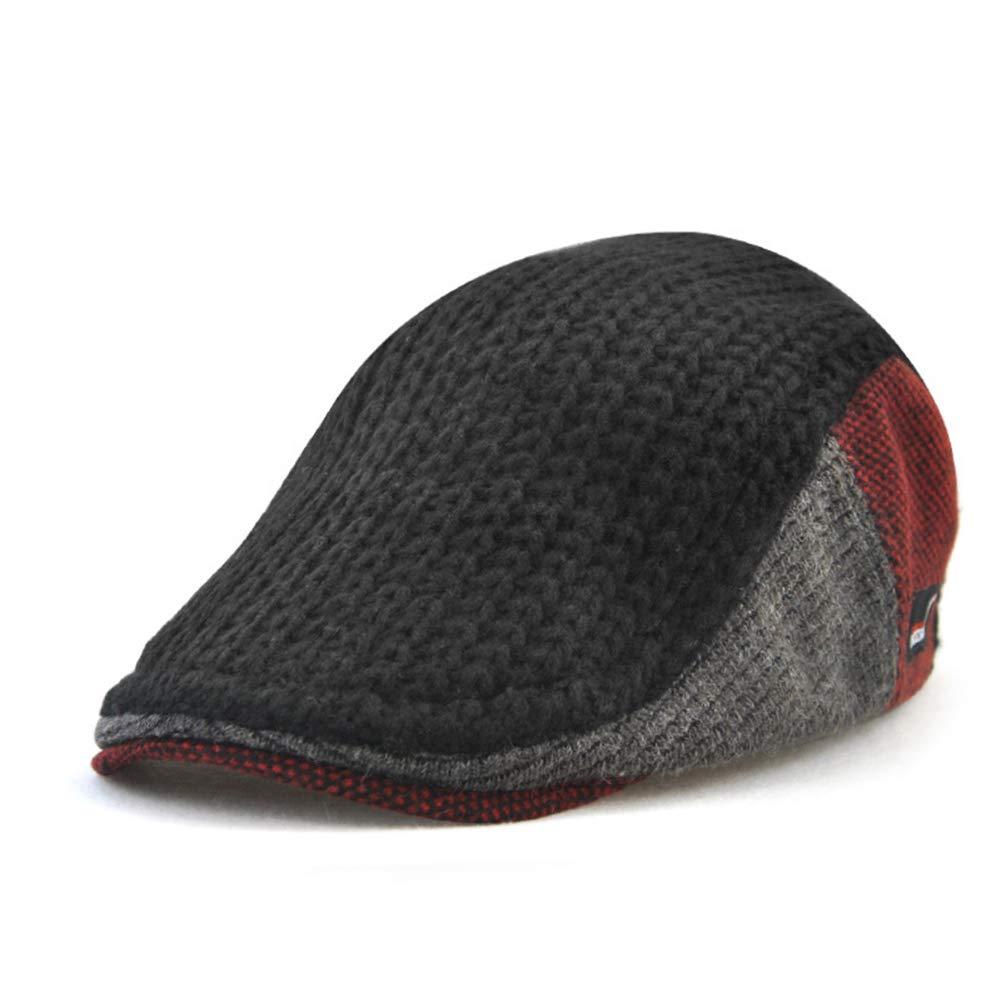 Anshili Men's Adjustable Winter Knitted Hats (Black) ShiAn