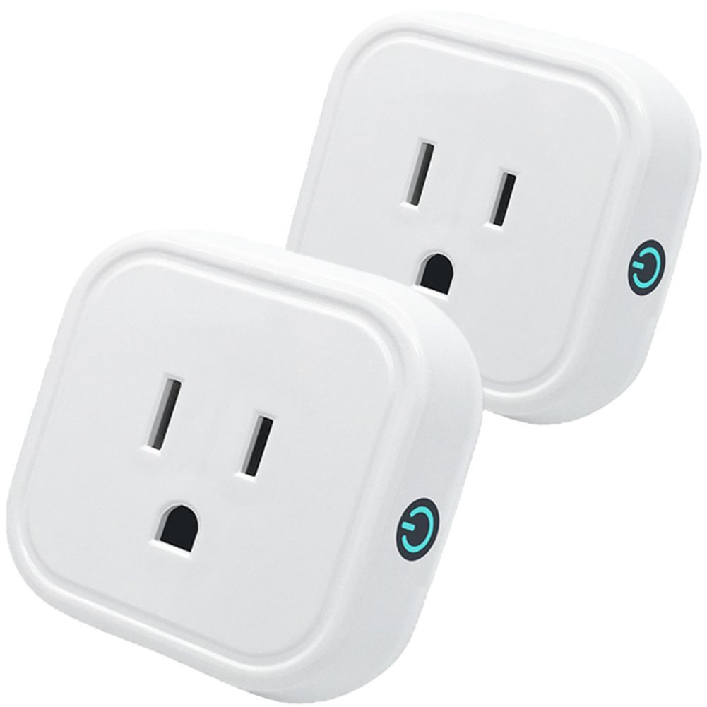 Smart Plug Wifi Mini Outlet Compatible With Amazon Alexa Echo&Google Home Accessories-Wifi Enabled Timer Smart Socket Remote Control From Anywhere Anytime by Smart Phone-Free of App (2 Pack)