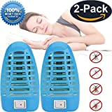 Mosquito Trap,electric Bug Zapper, Mosquito Killer Lamp Insect light Lamp, Indoor Electric Repeller (2 Pack) – Eliminates Most Flying Pests + A FREE Mosquito Expulsion Clasp